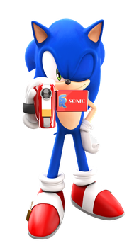 Sonic With A Camera by FinnAkira