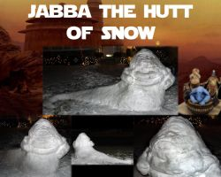 Snow Jabba the Hutt by JediMichael