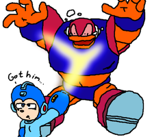 Megaman Classic vs Captain N GutsMan by IcePony64