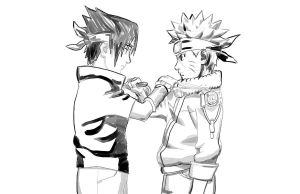 Sasuke And Naruto 1 by AdanMGarcia