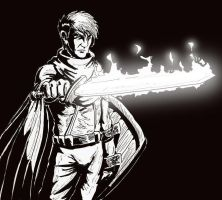 flaming sword Aestaes by Shabazik