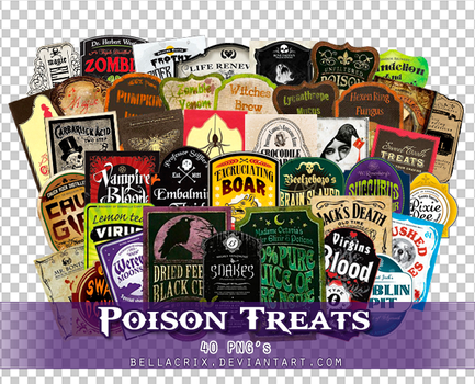 Poison Treats PNGs by Bellacrix
