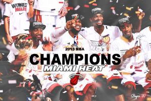 2013 NBA CHAMPIONS by HowseholdGraphics