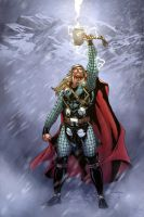 Thor in Jotunheim by SpiderGuile
