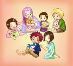 Digimon - Sleepover colored by SyrinxFlute