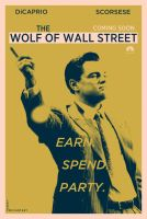 Wolf of Wall Street fan poster by crqsf
