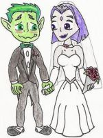 Beast Boy+Raven Wedding Pic by nintendomaximus