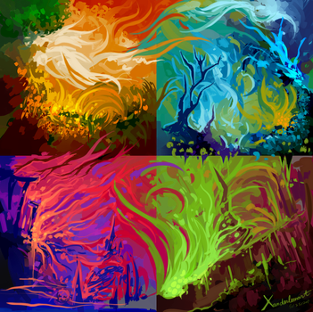 Colors Experiment by Xanderleonart