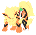 Manami And Arcanine by Chaira-Ravenheart