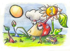 Pikmin doodles by UltraViolete