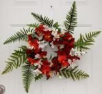 Red and Fern floral wreath by Lyrak