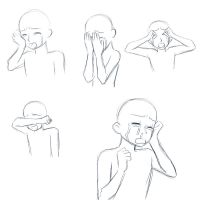 Crying Poses by yesi-chan