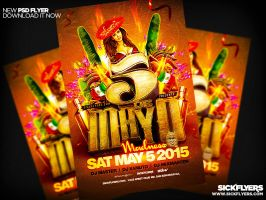 Cinco De Mayo Flyer PSD by Industrykidz