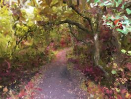 Path in the forest paint by Cyberax666