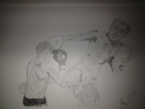 World Champ Kickboxer at work by straughany