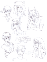 Sketchdump no. 3 - Homestuck by meggiefox