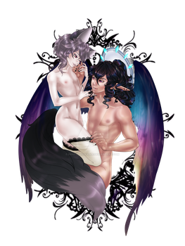 Je t'adore Mon ange: victorxluciel by FracturedFable