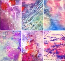 A sunken garden - WATERCOLOR STOCK PACK by AuroraWienhold
