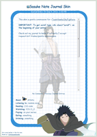 Sasuke Journal Skin by 16thSquadSanseki