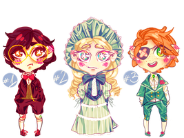 Victorian inspired adoptables: OPEN (1/3) by Sofroniskos