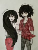 Marceline and Marshal Lee!! by nahlahlie