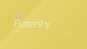 Fluttershy | Windows 8 by impala99