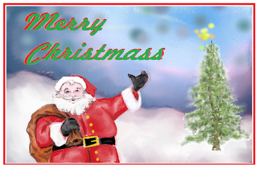 old x mass card by NewCLearNomad