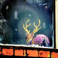 Psychadelic Deer In Pixieland by jojo22