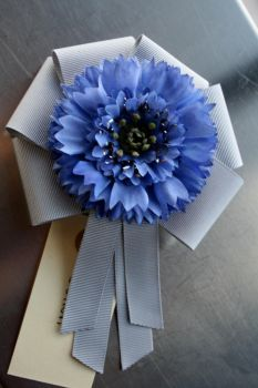 IF: Bachelor's Button Corsage by A-Little-White-Lie