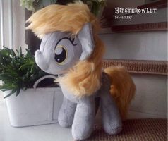 Handmade Derpy  Plush with faux-fur mane by HipsterOwlet