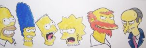 Simpsons watercolored headshot by DoctorFantastic