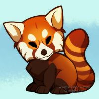 Red panda chibi by ShinePawArt
