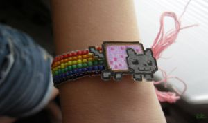 Nyan Cat Bracelet by randomranma