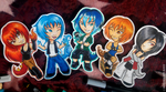 _ Scaly Tailed Chibies _ by JustKatArt