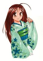 Traditional Kimono Girl by shortpinay