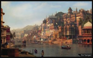 The 'Holy Ganges' river in India by LugoGolu
