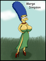 Marge Simpson by WorldofSolgamia