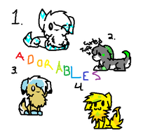 Adorables Sheet :DOGS OPEN: by adorables101