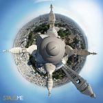 Orbiting Sacre Coeur, Paris by Graphica