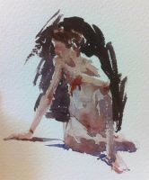 Figure Sketch in Watercolour by MarcoBucci