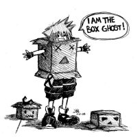 The Box Ghost by crAy0lA-pOptArt