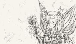 Fairy Sketch by Chengggg