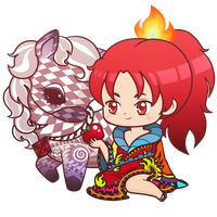Knight, Death and the Devil_ Kyouko/Ophelia Charm by LuckySquidStudios