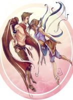 Makorra Week 2012:: Day 1 Fantasy by renkarts