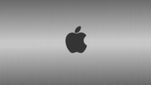Apple Wallpaper - Brushed Metal by Tandyman100