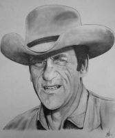 Marshal Matt Dillon from Gunsmoke by WEZIAH