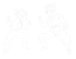 Goku vs Vegeta 1st preview by drozdoo