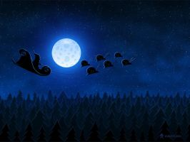 Christmas: Santa Flying 1 by vladstudio