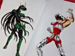 Shiryu and Seiya - Side by side by HBitwill
