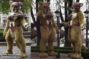 Female Viing Bobcat Lady Fursuit with Leather by AtalontheDeer